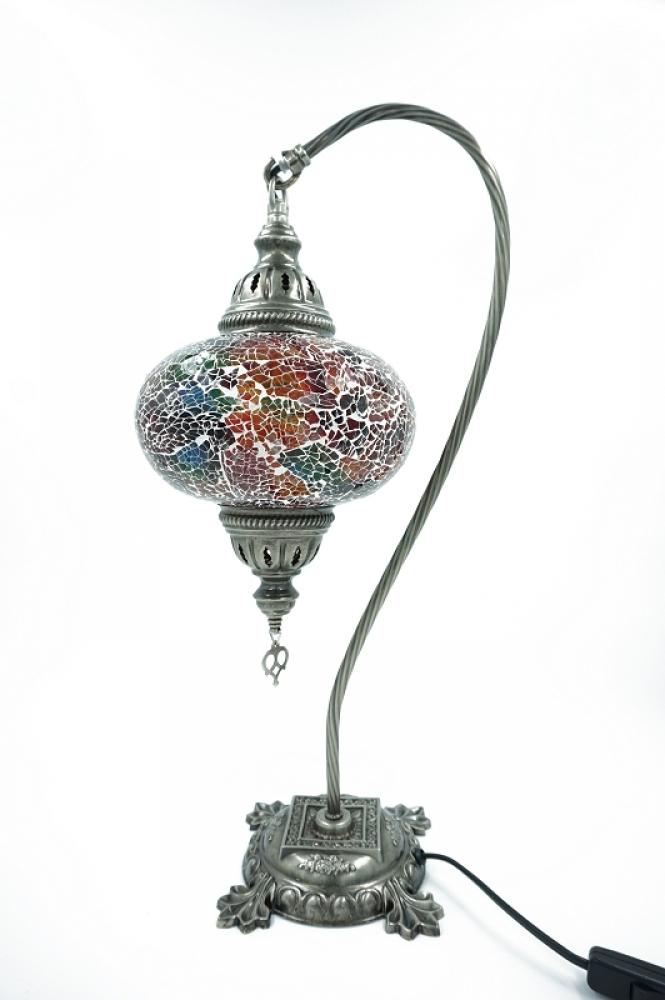 mosaiklampe schwanenhals bunt gro. Black Bedroom Furniture Sets. Home Design Ideas