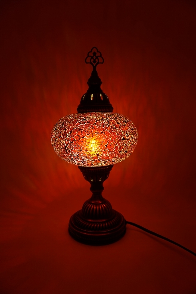 handgemachte mosaiklampen t rkische lampen orientalische lampen mosaik tischlampe rot gro. Black Bedroom Furniture Sets. Home Design Ideas